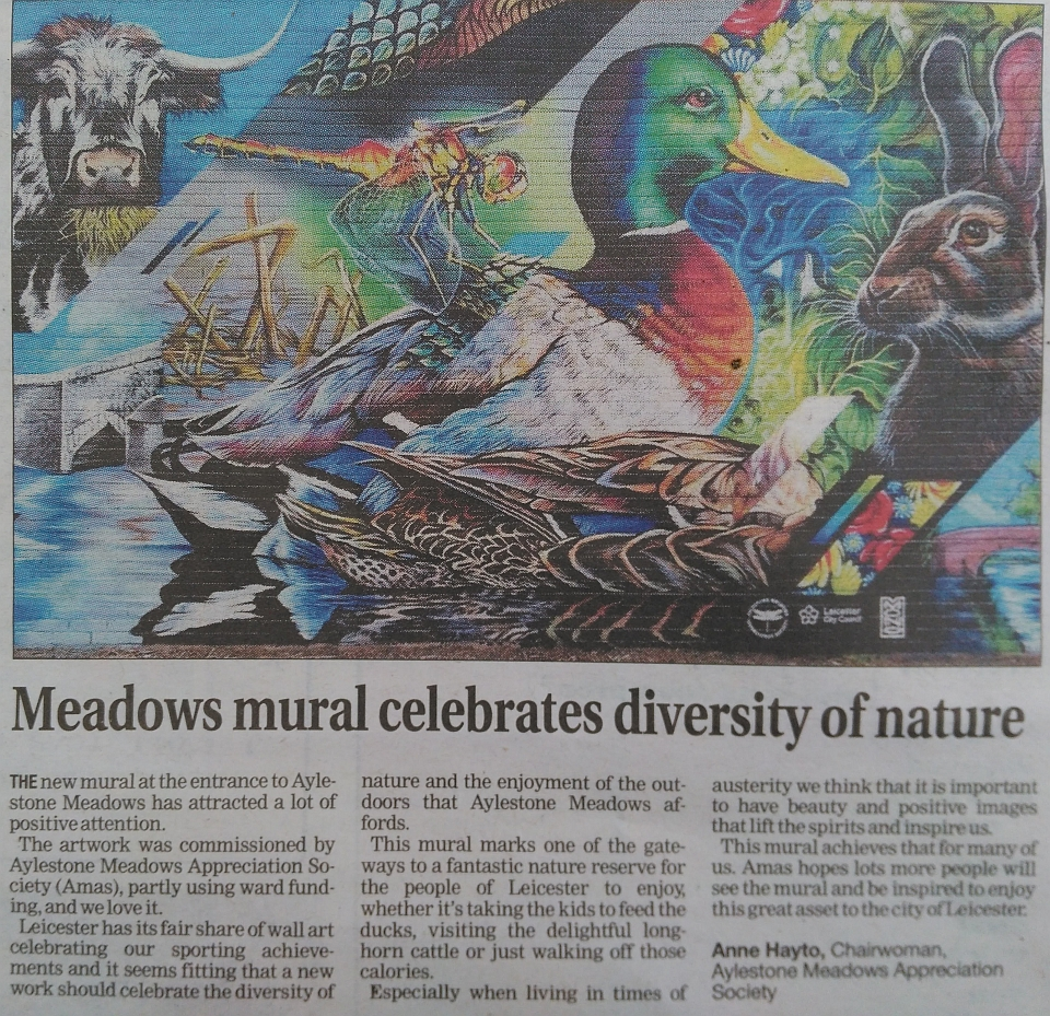 Meadows mural celebrates diversity of nature Mercury 4 Nov 2017